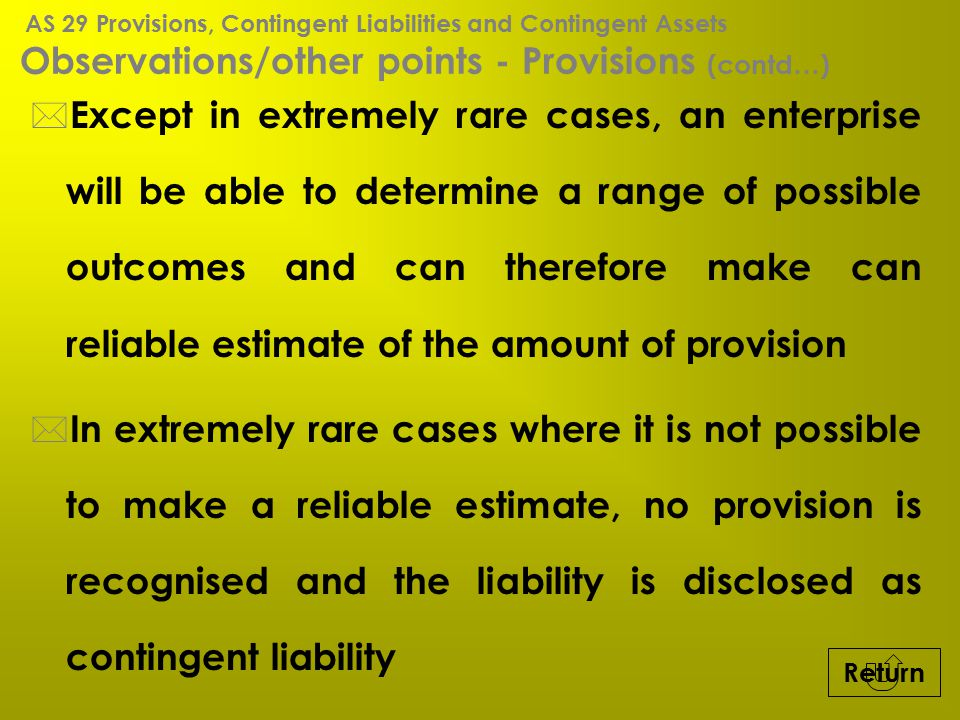 Observations/other points - Provisions (contd…)