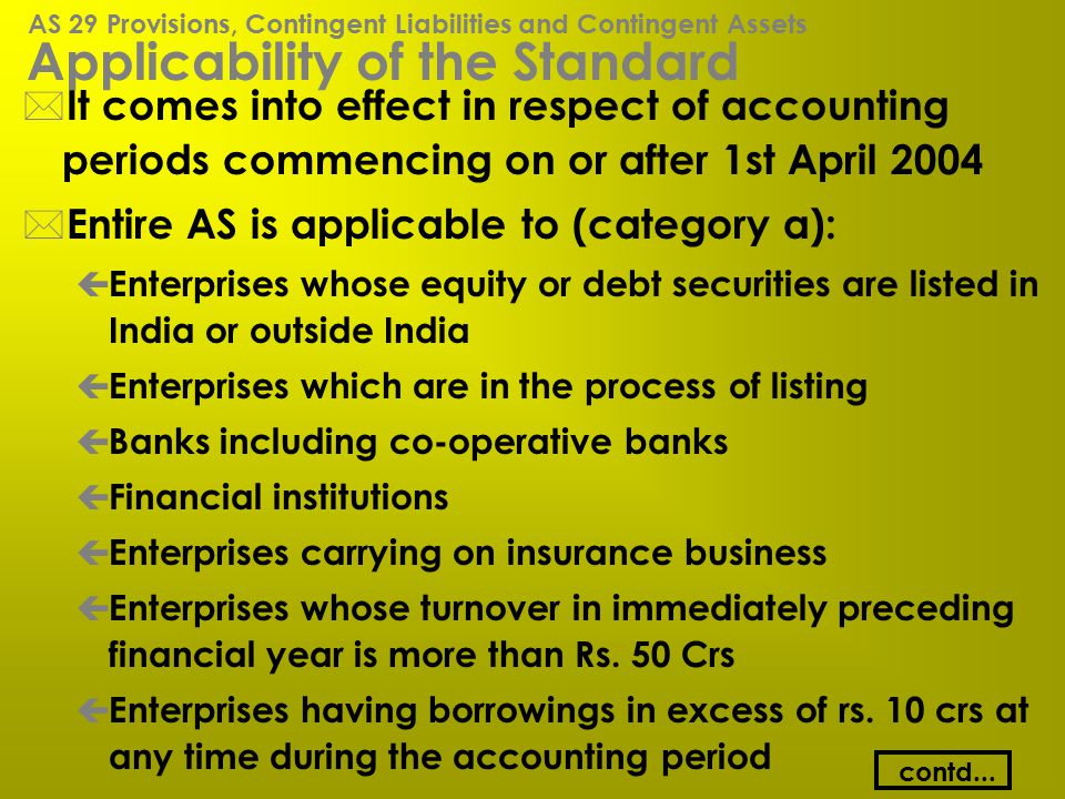 Applicability of the Standard