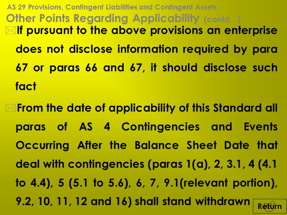 Other Points Regarding Applicability (contd…)