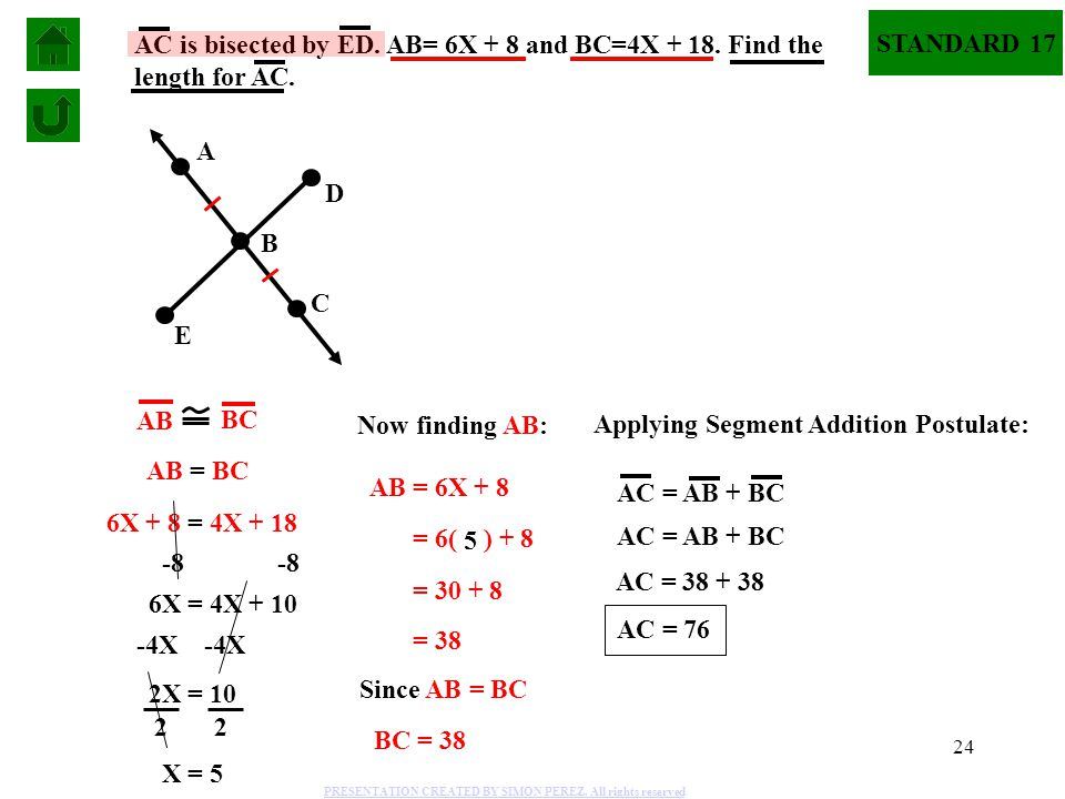 Applying Segment Addition Postulate: