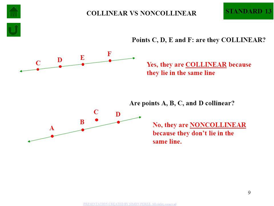 COLLINEAR VS NONCOLLINEAR