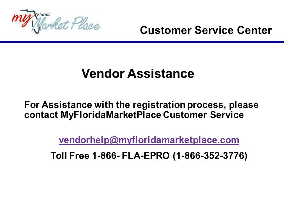 Toll Free 1-866- FLA-EPRO (1-866-352-3776)