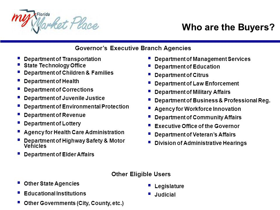 Governor's Executive Branch Agencies