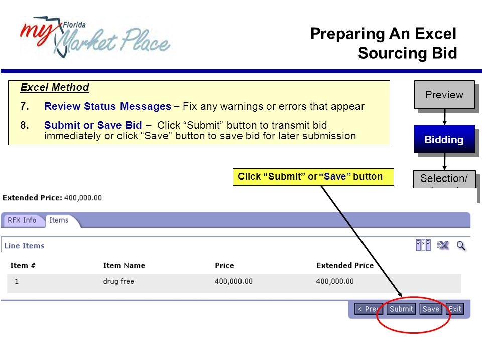 Preparing An Excel Sourcing Bid