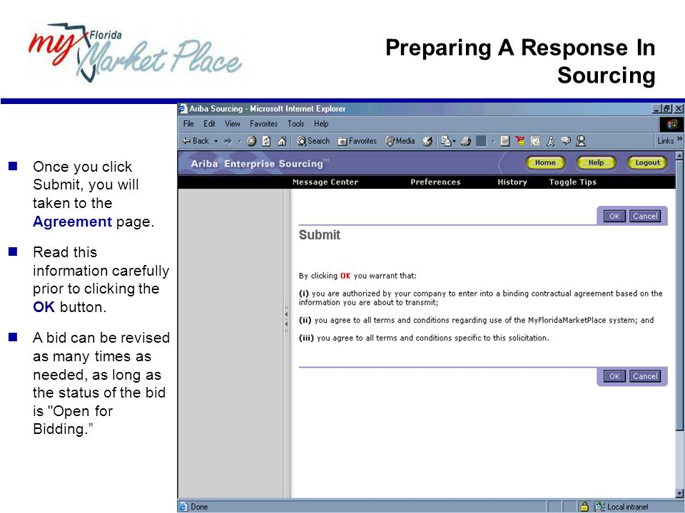Preparing A Response In Sourcing