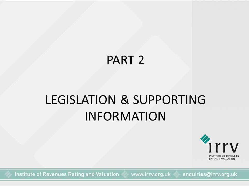 LEGISLATION & SUPPORTING INFORMATION