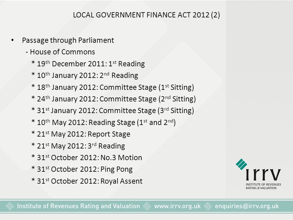 LOCAL GOVERNMENT FINANCE ACT 2012 (2)