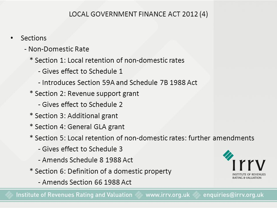 LOCAL GOVERNMENT FINANCE ACT 2012 (4)