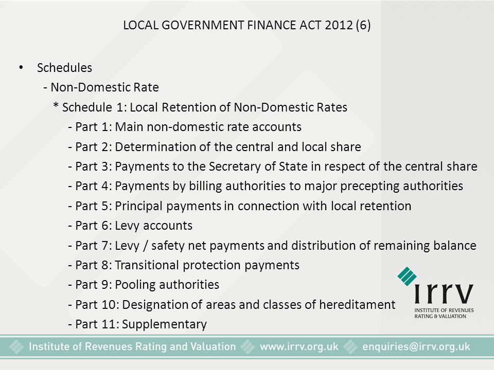 LOCAL GOVERNMENT FINANCE ACT 2012 (6)
