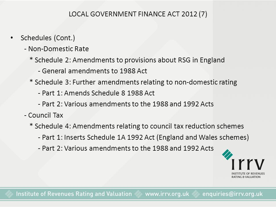 LOCAL GOVERNMENT FINANCE ACT 2012 (7)