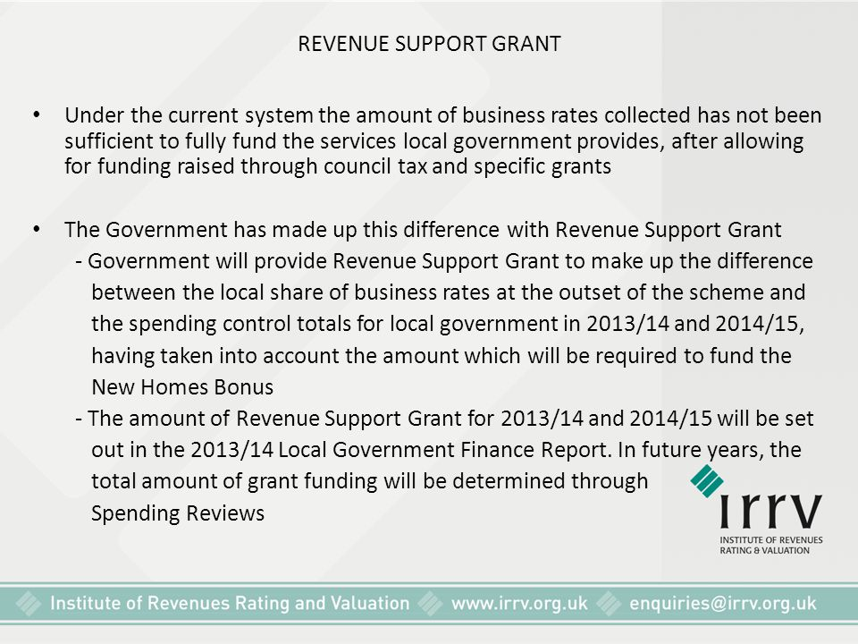 REVENUE SUPPORT GRANT