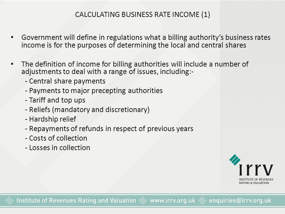 CALCULATING BUSINESS RATE INCOME (1)