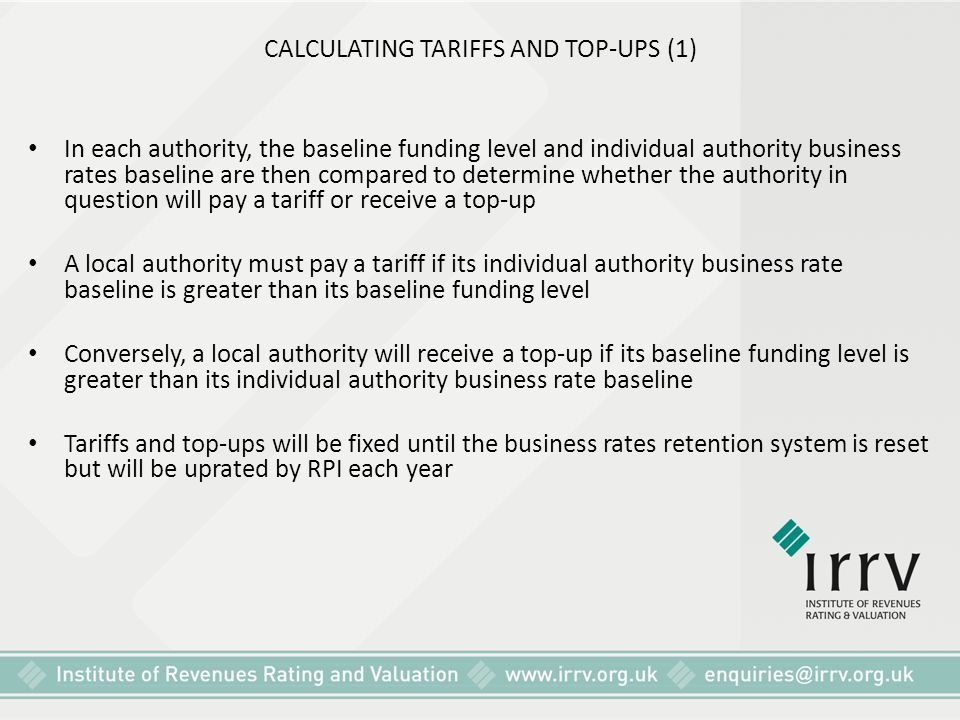 CALCULATING TARIFFS AND TOP-UPS (1)