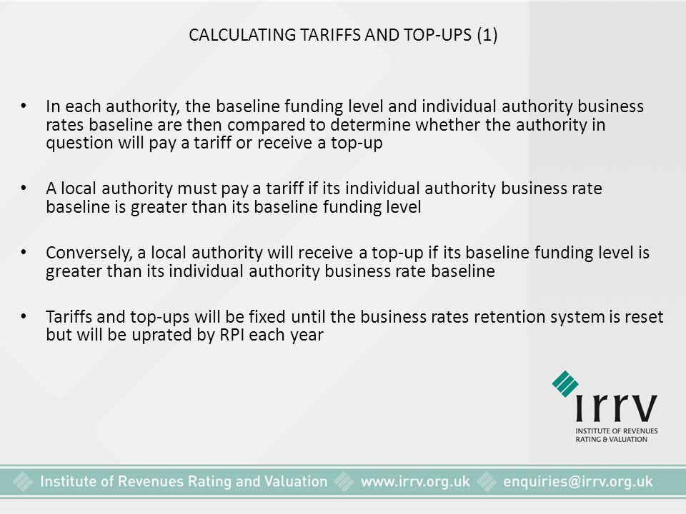 CALCULATING TARIFFS AND TOP-UPS (1)