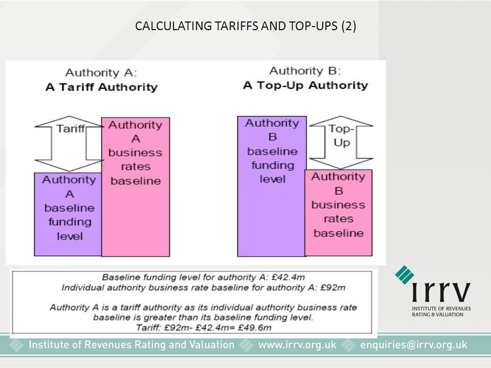 CALCULATING TARIFFS AND TOP-UPS (2)