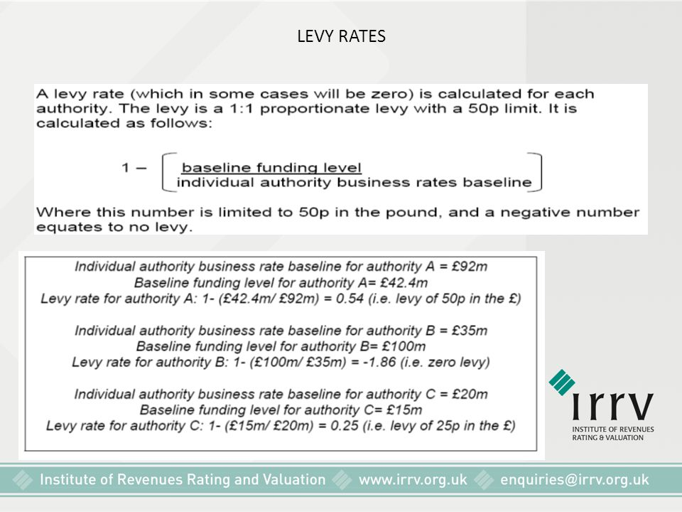 LEVY RATES