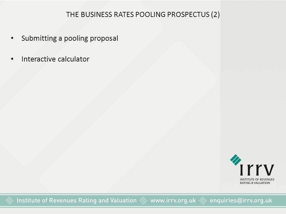 THE BUSINESS RATES POOLING PROSPECTUS (2)