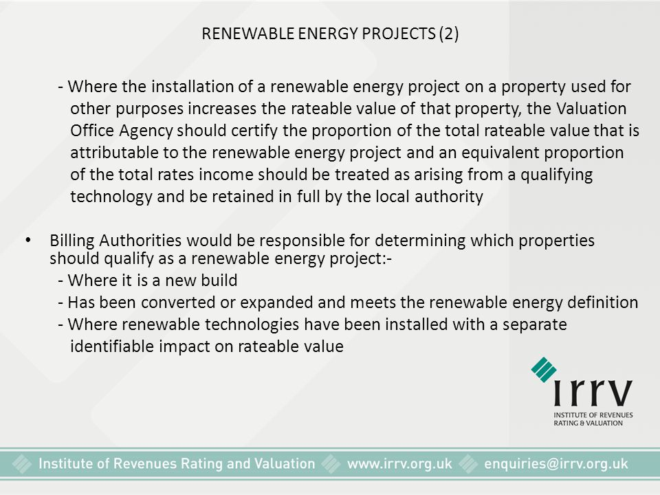 RENEWABLE ENERGY PROJECTS (2)