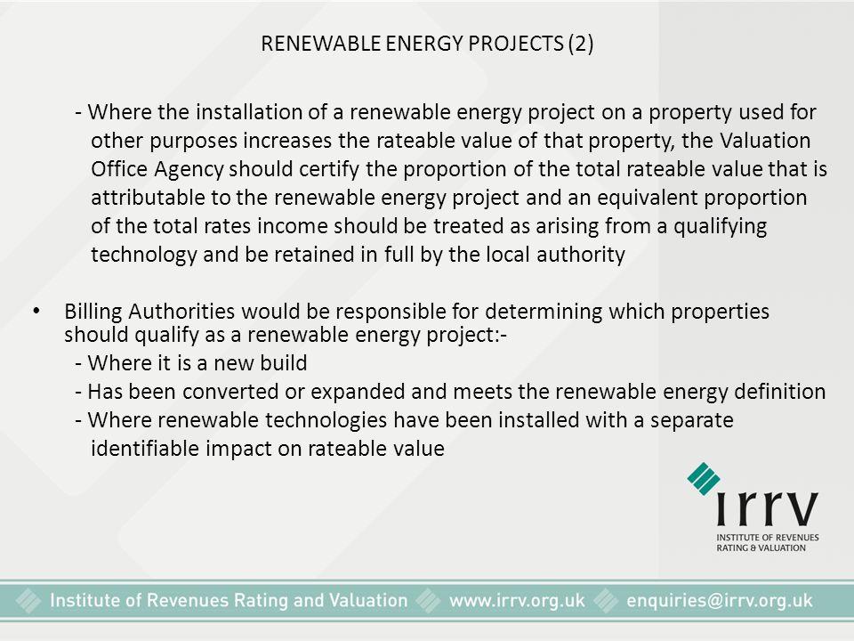 RENEWABLE ENERGY PROJECTS (2)
