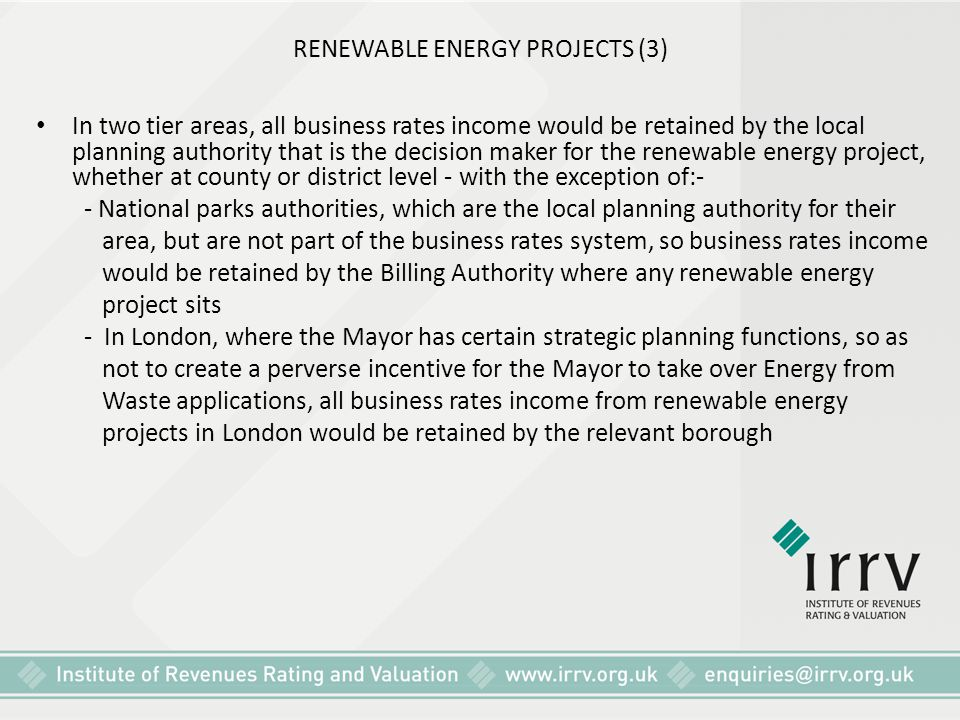 RENEWABLE ENERGY PROJECTS (3)