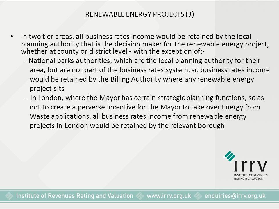 RENEWABLE ENERGY PROJECTS (3)