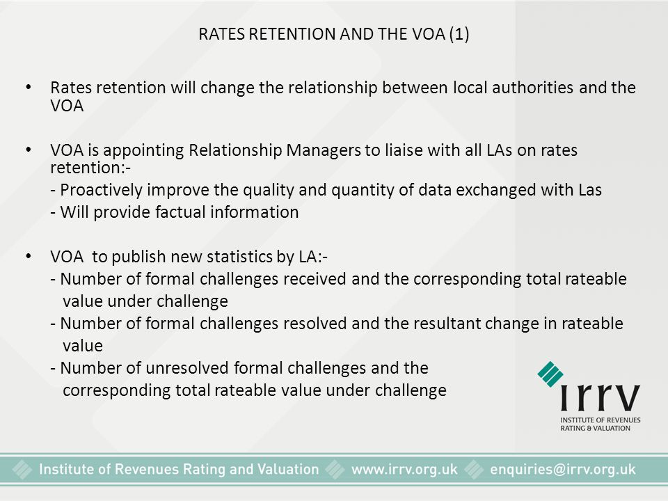 RATES RETENTION AND THE VOA (1)