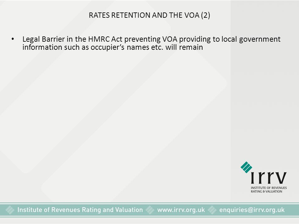 RATES RETENTION AND THE VOA (2)