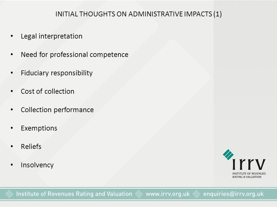 INITIAL THOUGHTS ON ADMINISTRATIVE IMPACTS (1)