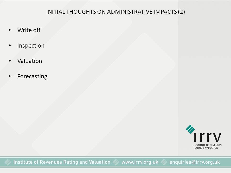 INITIAL THOUGHTS ON ADMINISTRATIVE IMPACTS (2)
