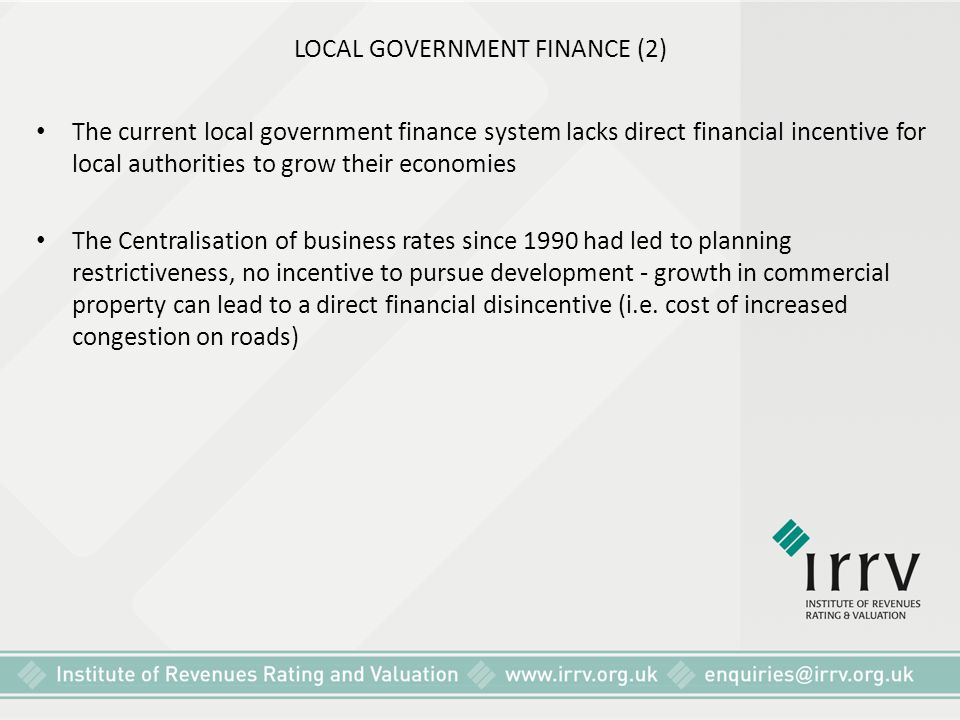 LOCAL GOVERNMENT FINANCE (2)