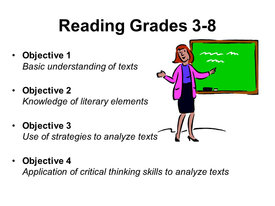 Reading Grades 3-8 Objective 1 Basic understanding of texts