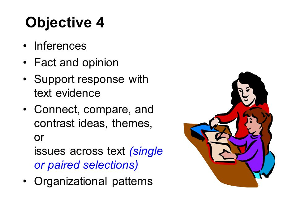 Objective 4 Inferences Fact and opinion
