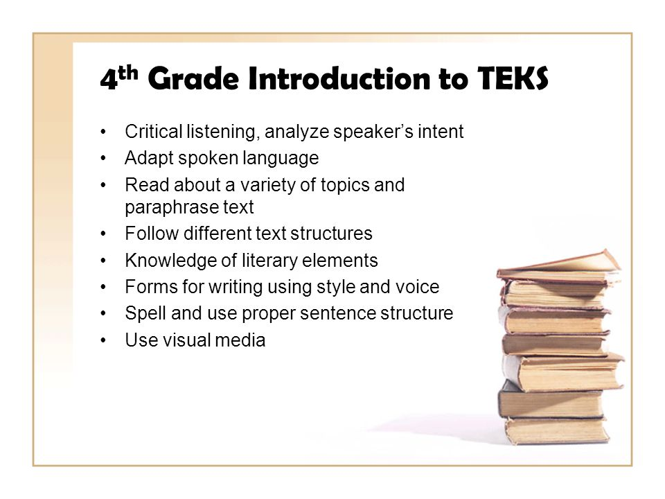 4th Grade Introduction to TEKS