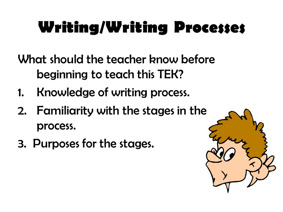 Writing/Writing Processes