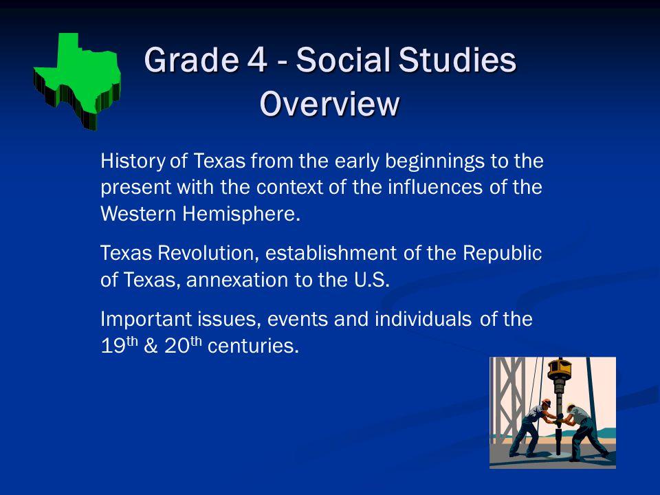 Grade 4 - Social Studies Overview