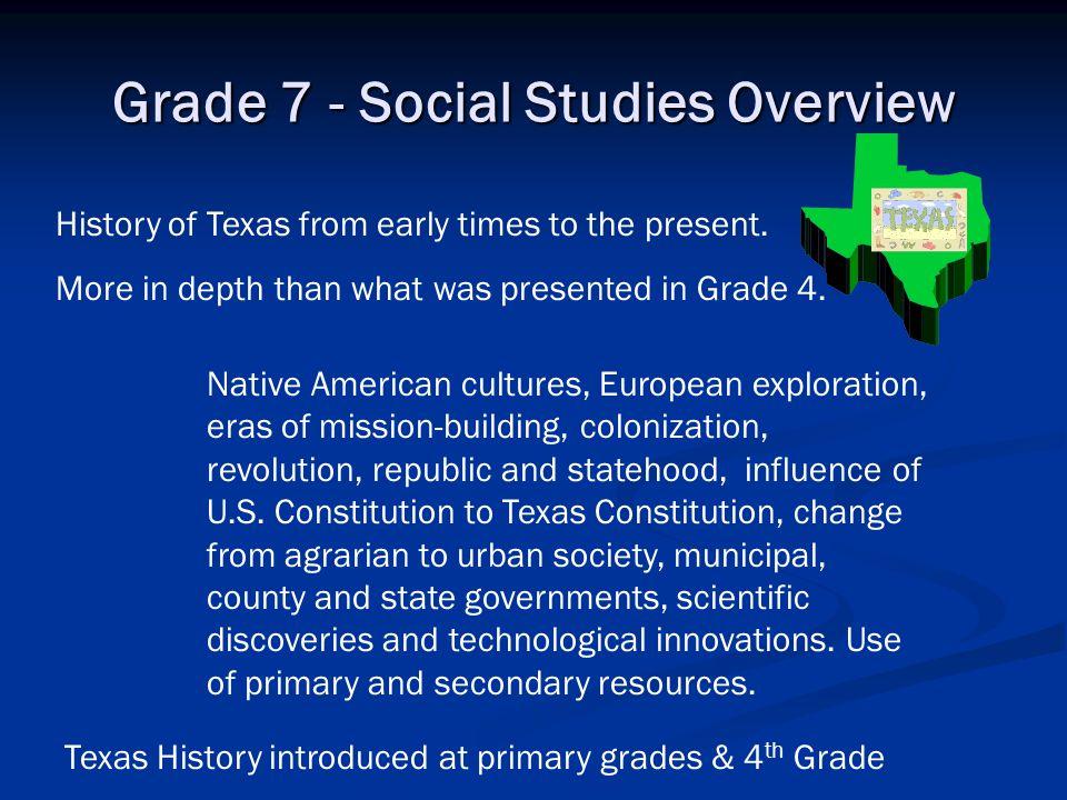 Grade 7 - Social Studies Overview