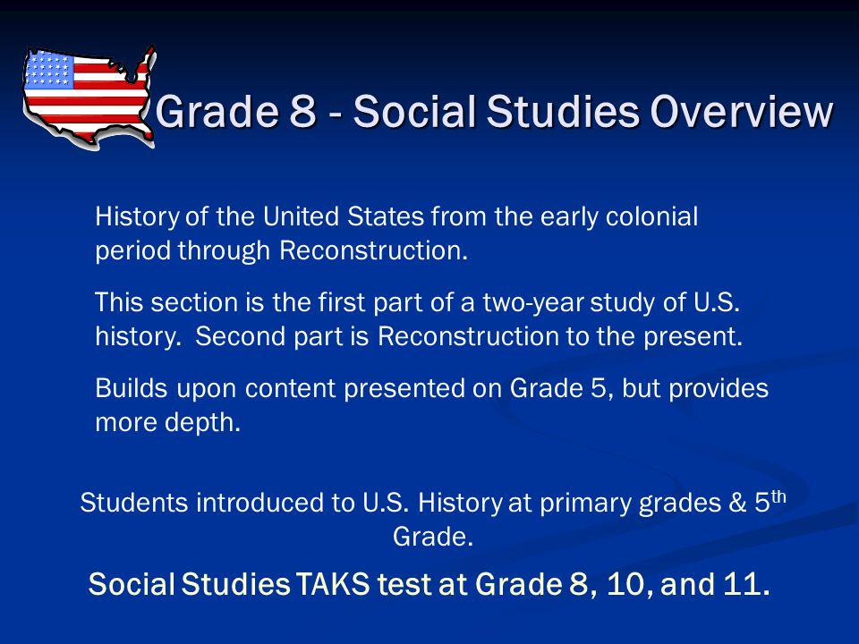 Grade 8 - Social Studies Overview