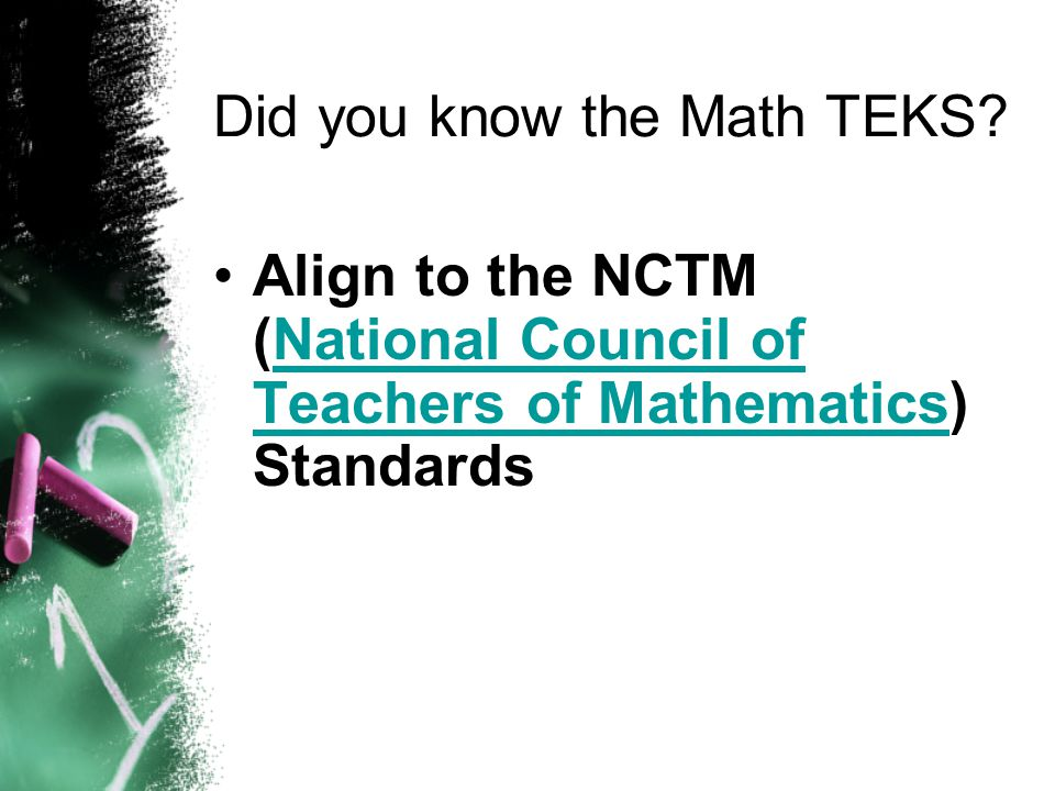 Did you know the Math TEKS