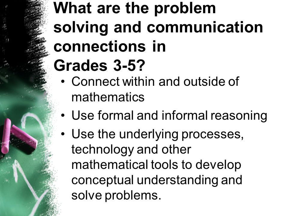 What are the problem solving and communication connections in Grades 3-5