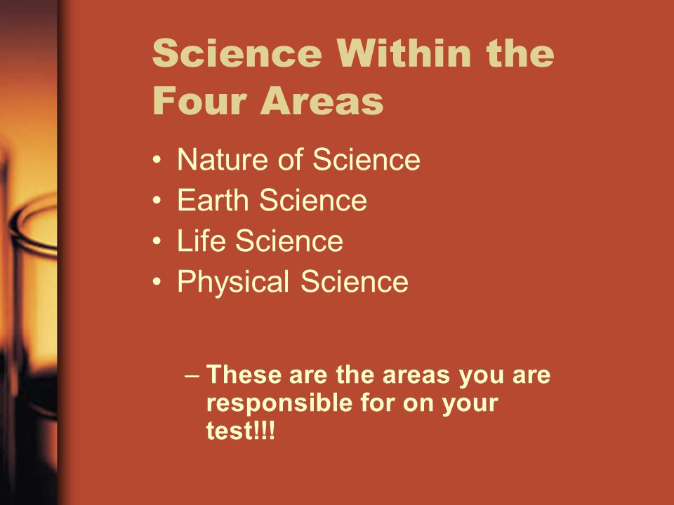 Science Within the Four Areas