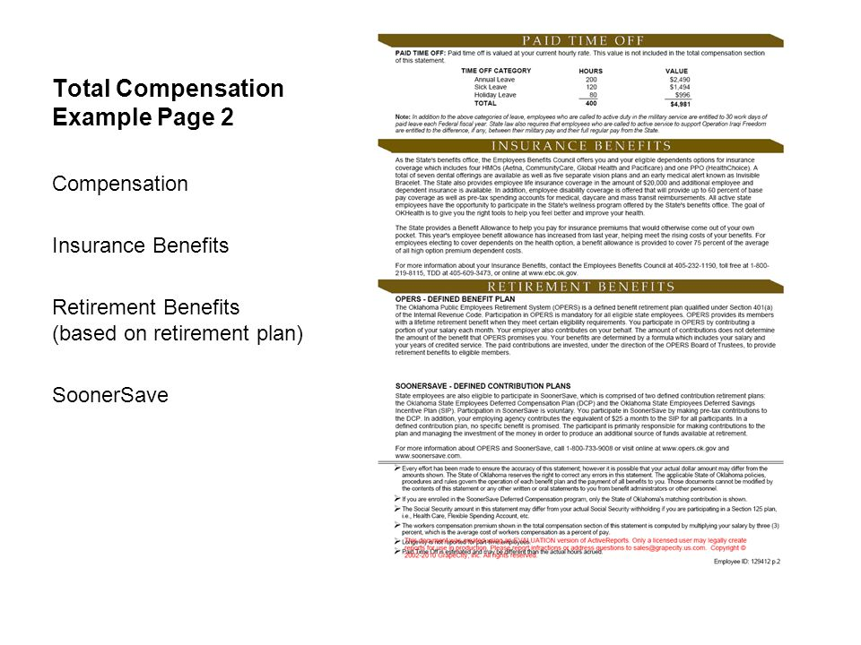 Total Compensation Example Page 2
