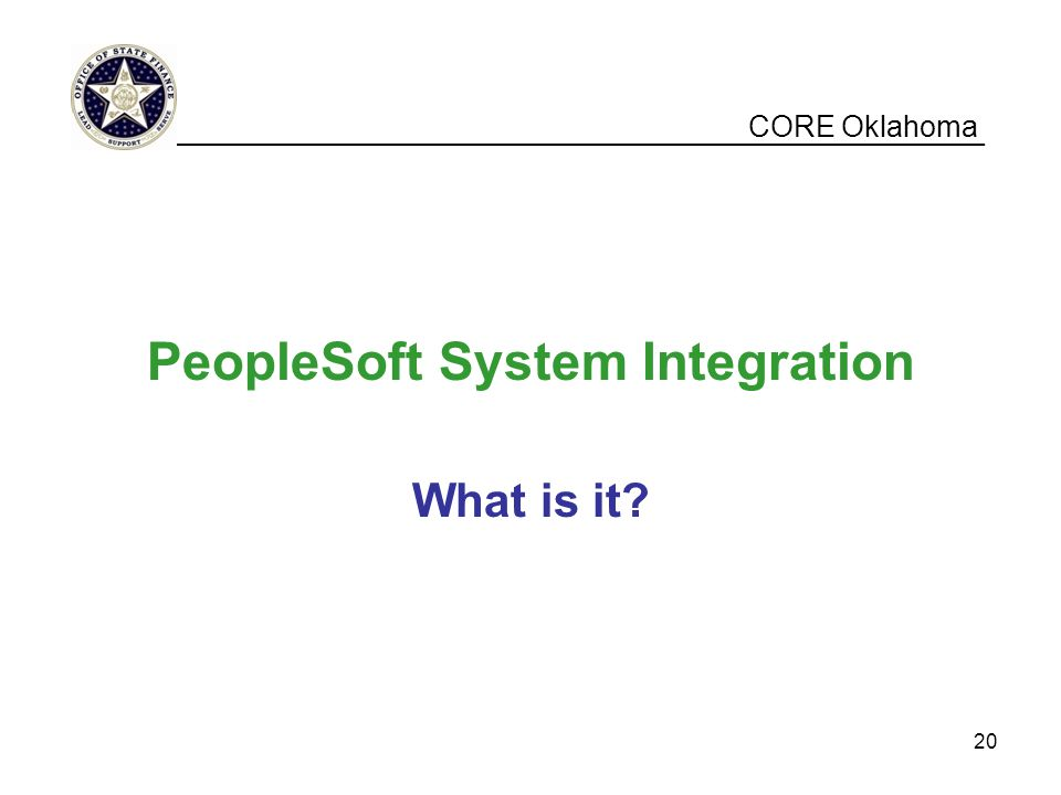 PeopleSoft System Integration