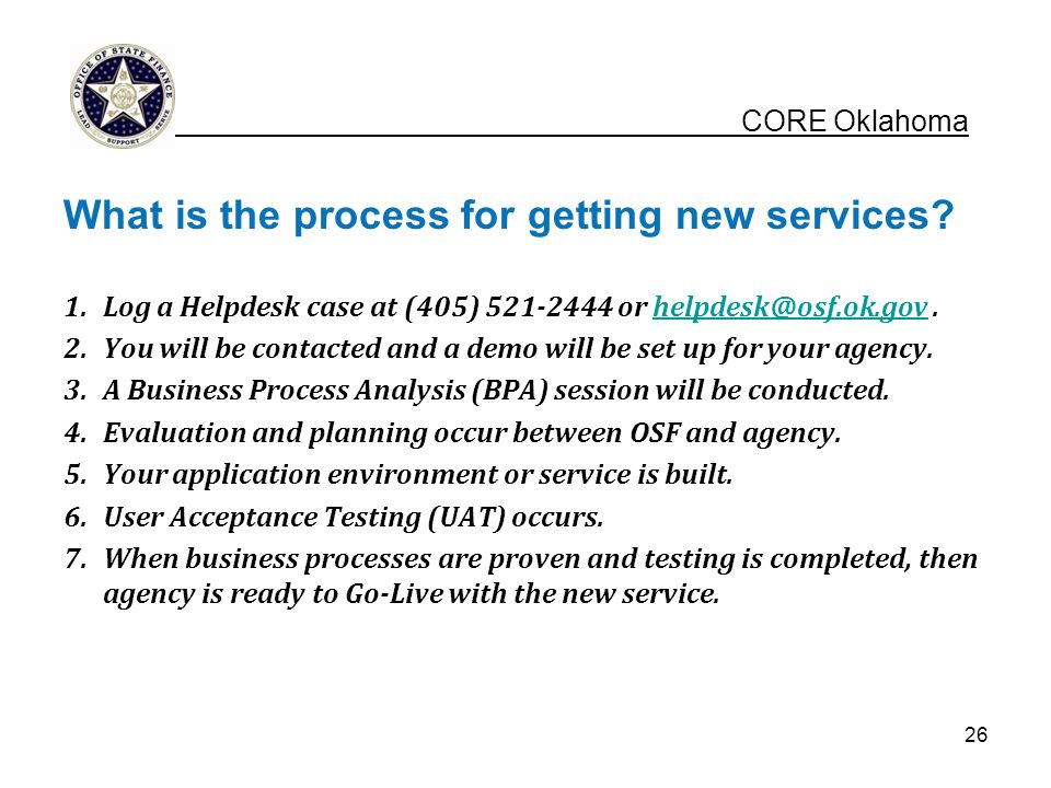 What is the process for getting new services