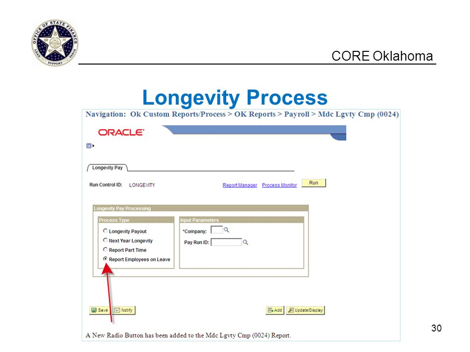 Longevity Process CORE Oklahoma