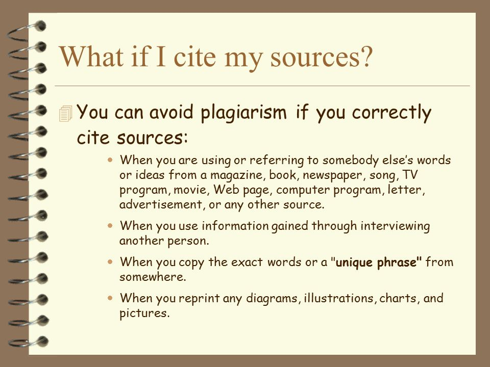 What if I cite my sources