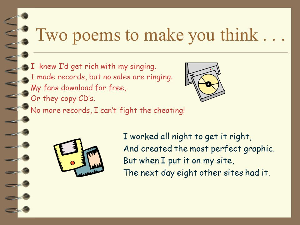 Two poems to make you think . . .