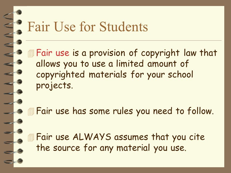 Fair Use for Students