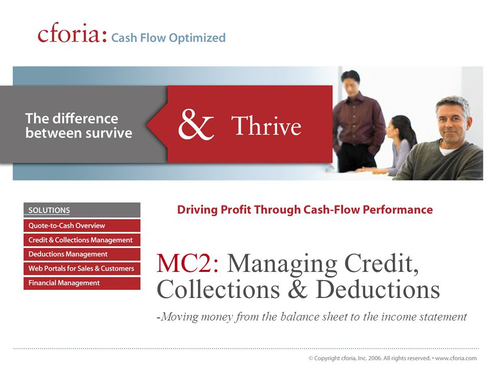 MC2: Managing Credit, Collections & Deductions