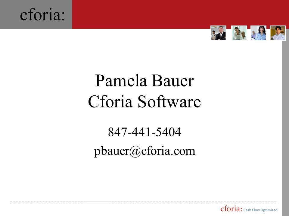 Pamela Bauer Cforia Software