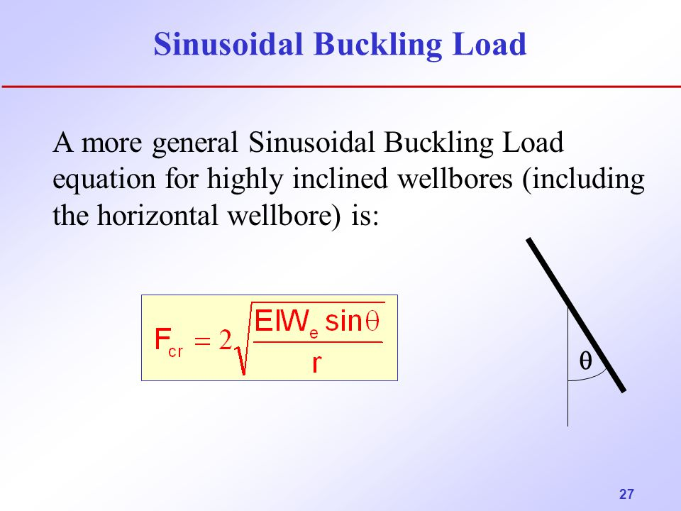 Sinusoidal Buckling Load
